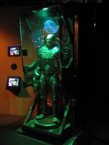 A borg standing in a recharge station