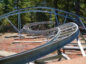 Winding roller coaster tracks